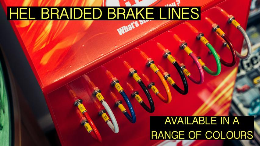 Multicolour Brake Lines Captioned